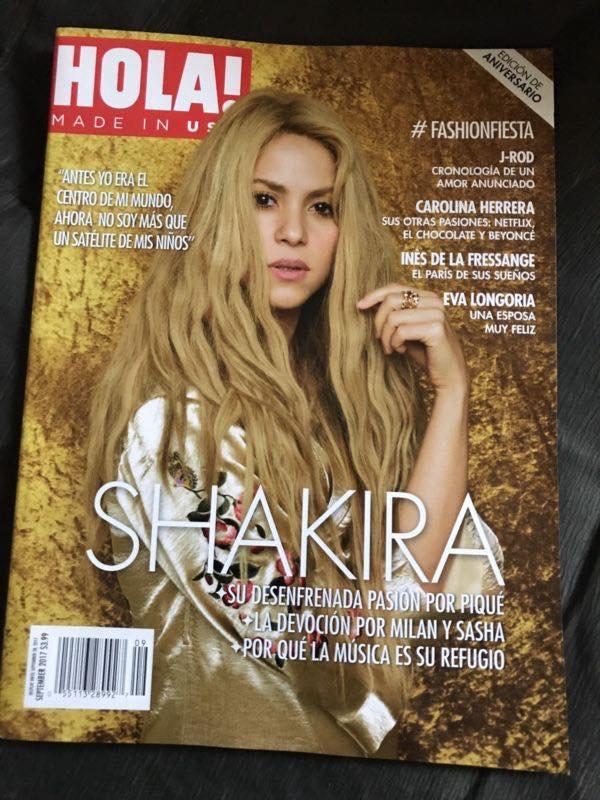 """Shakira en couverture pour le magazine """"Hola ! """" (Edition Septembre 2017)"""