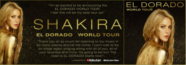 """Découvrez les trois chansons choisies pour le """"El Dorado Tour"""" (le 20/08/2017)"""