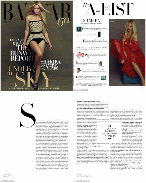"""Scans des pages du magazine """"Bazaar Harper's en Espagnol"""" (le 22/08/2017)"""