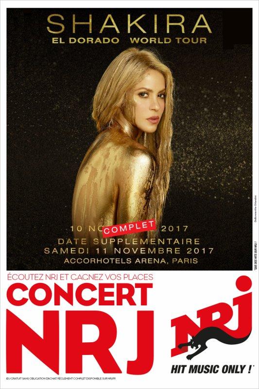 Shakira à la Rockhal avec NRJ ! (le 31/08/2017)