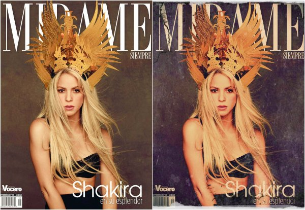 "Shakira en couverture pour le magazine ""Always Look Me !"" (le 13/10/2017)"