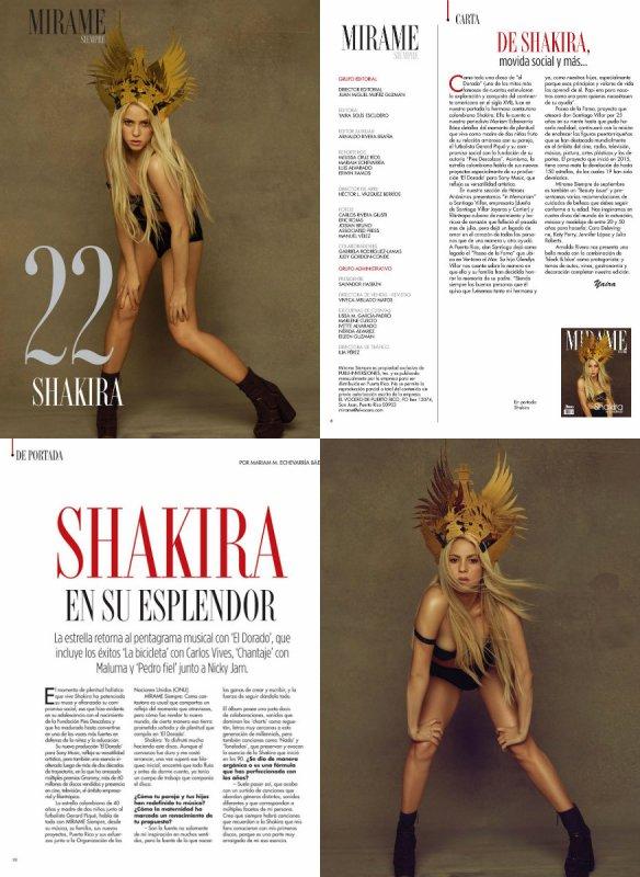 """Shakira dans le magazine """"Always Look Me ! / Siempre Mirame !"""" de Porto Rico (le 17/10/2017)"""