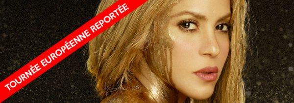 Montpellier, Lyon, Paris...Shakira contrainte de reporter ses concerts Européens en 2018 (le 14/11/2017)