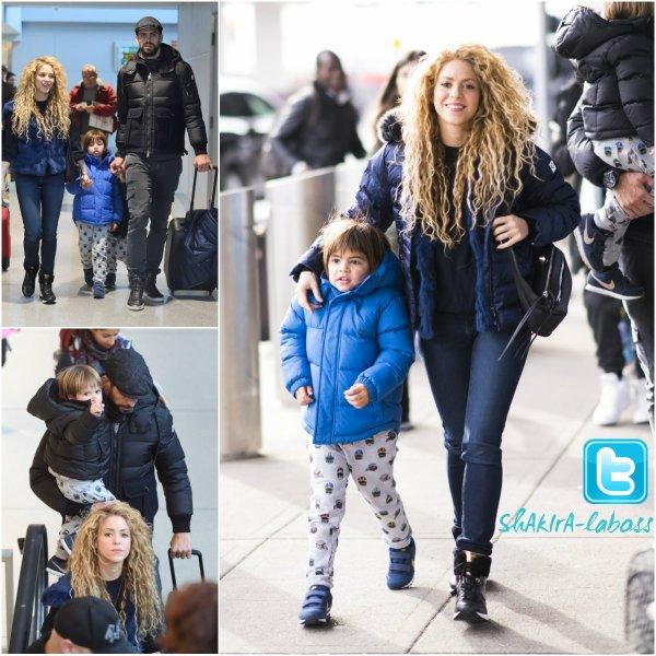 Shakira et Gérard séjournant à la montagne. (le 08/01/2017)