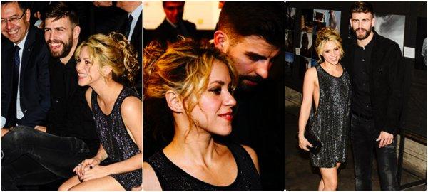 """Shakira, Gérard et leurs deux fils à """"Disney On Ice"""" à Barcelone (le 21/02/2018)."""