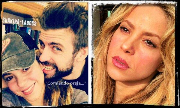 FC Barcelone : Le défenseur Gérard Piqué « croque » Shakira pour faire taire à nouveaux les rumeurs (le 01/04/2018).