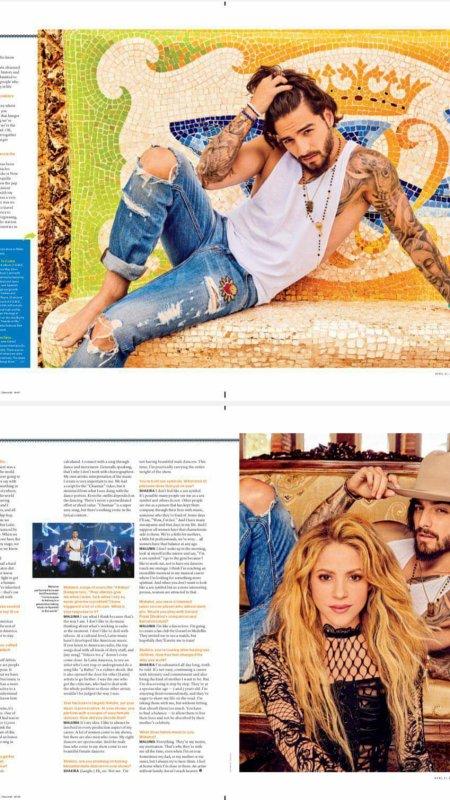 Résumé concernant l'interview de Shakira et Maluma (le 20/04/2018).