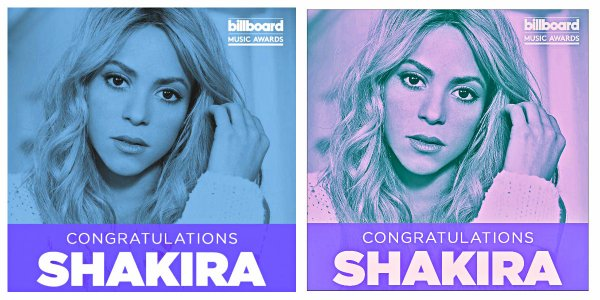 "Shakira récompensée aux ""Billboards Music Awards 2018"" (le 27/04/2018)."