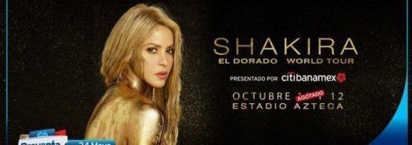 Shakira sera présente dans le pays mexicain (le 23/05/2018).