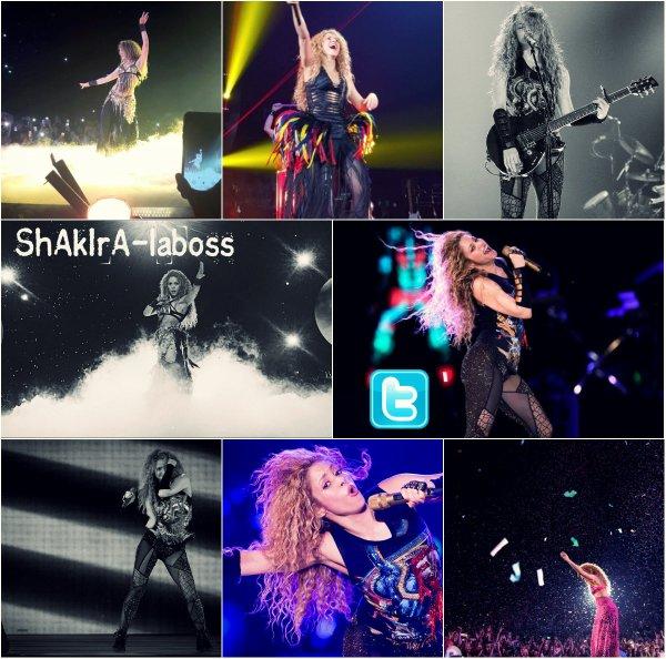 Shakira quittant son hôtel à Cologne accompagnée de fans. (Le 06/06/2018).