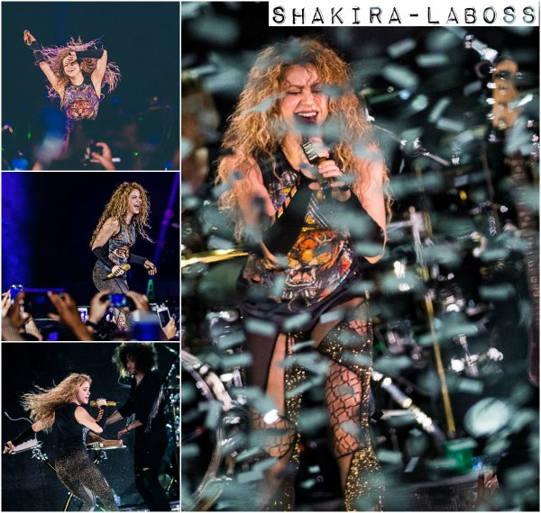 "Shakira présente son "" El Dorado World Tour"" à Anvers (le 08/06/2018)."
