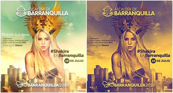 Shakira sera présente pour l'ouverture centraméricains de Barranquilla. (Le 07/07/2018).