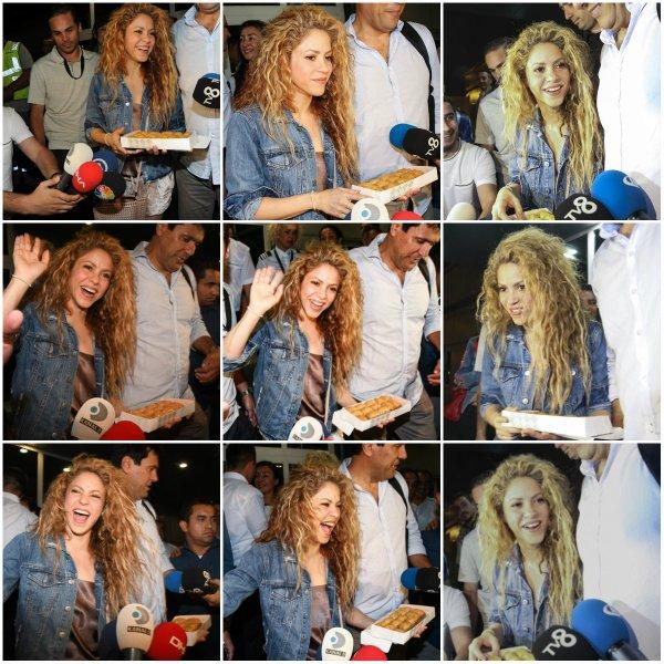 Shakira est arrivée à Istanbul (Le 11/07/2018).
