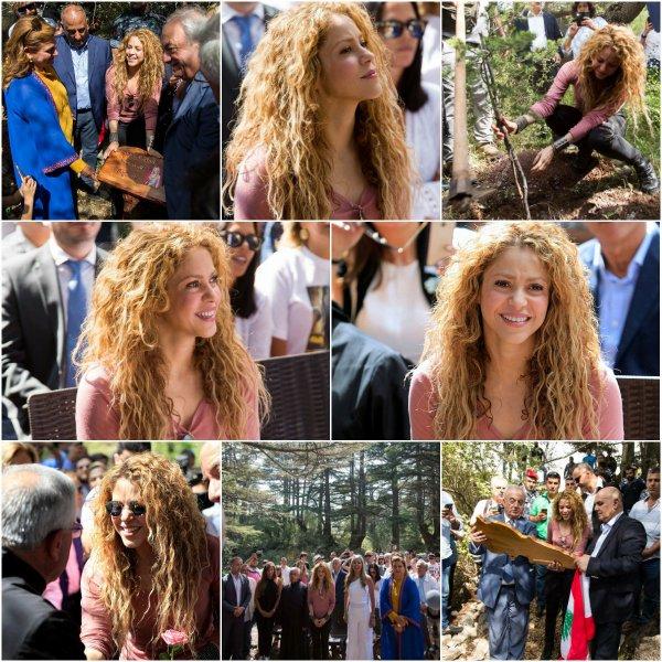 Shakira visite la réserve naturelle de cèdres de Tannourine (le 18/07/2018).