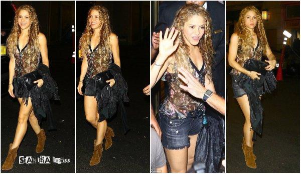 Shakira est arrivée dans ville de New-York (le 11/08/2018).