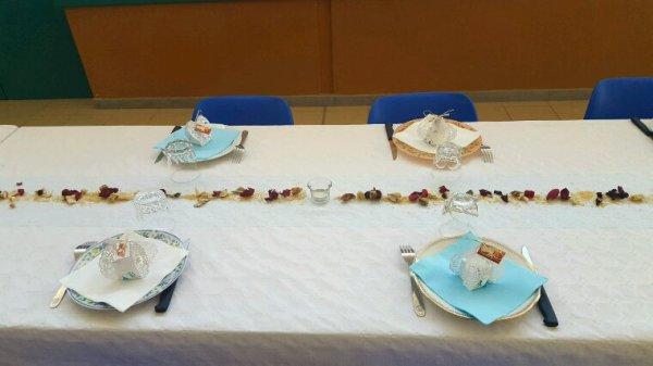 Deco table simple et pas trop charger .pour une communion d enfant .