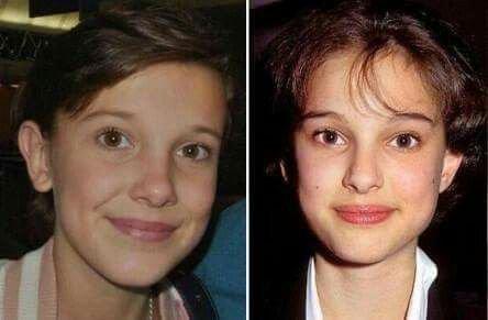 Êtes-vous d'accord Millie et Natalie Portman une ressemblance a coupé le souffle !!