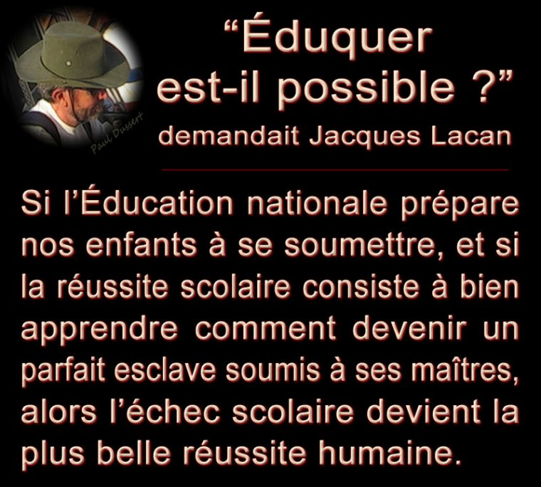 Citation : éducation = soumission ?
