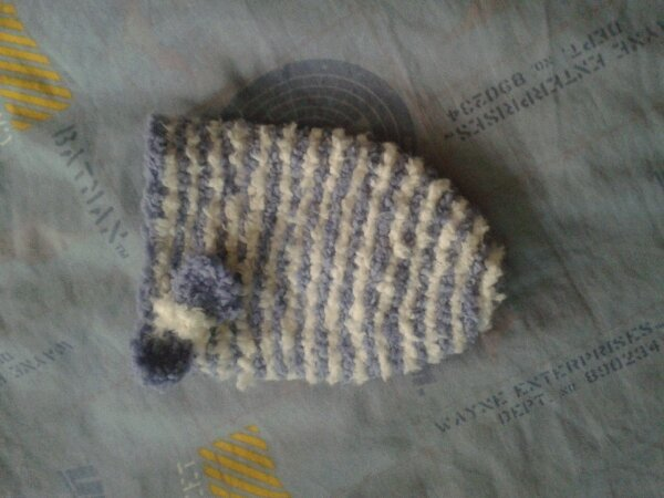 Cocoon tricote laine caline