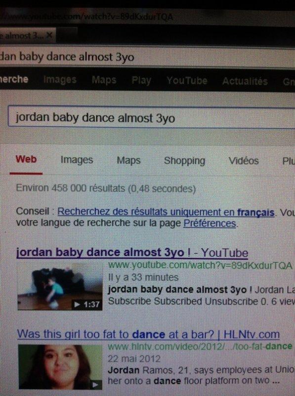 """Mon fils danseur """"bientôt 3 ans"""""""