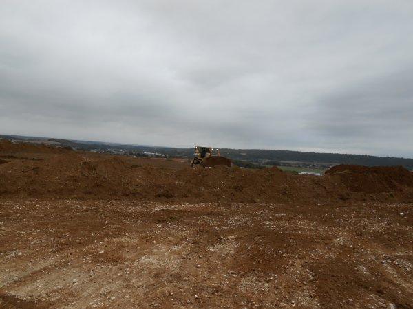 Gros chantier de terrassement.