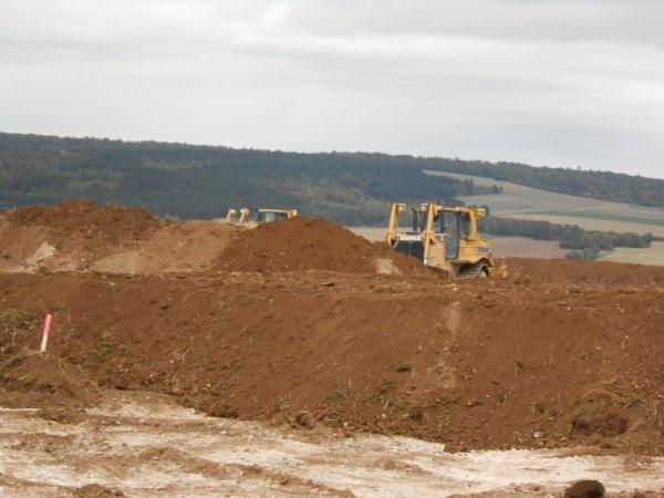 1ere série de photos chantier de terrassement fin.