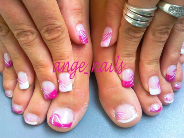 gel french sur ma fille