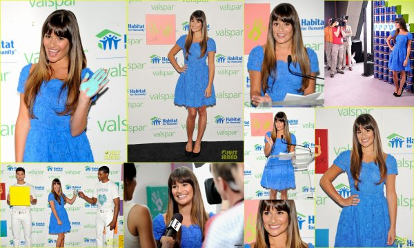 20/07/12 : Lea Michele présente à Valspar Hands For Habitat .