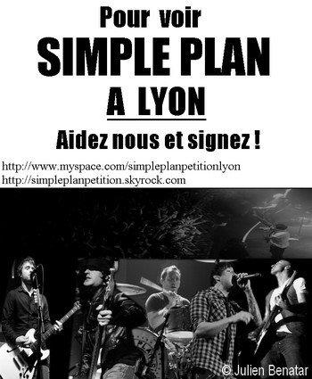 Pétition Simple Plan pour LYON