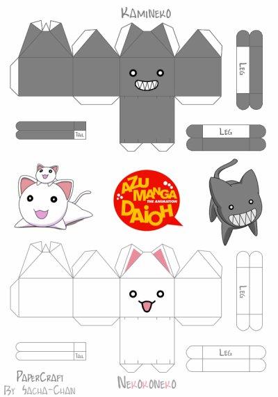 Kamineko / Nekokoneko Papercraft