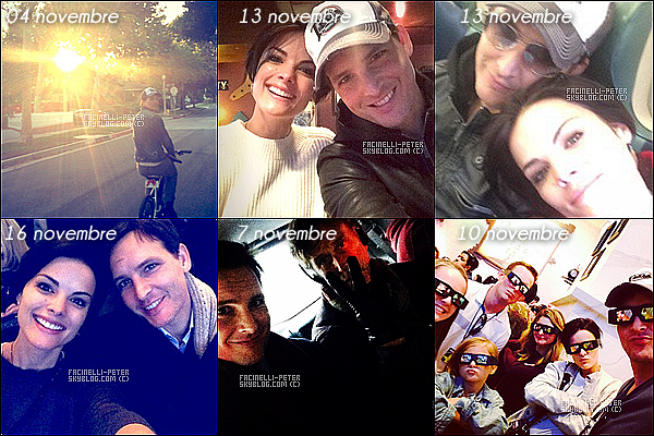 Plusieurs photos de Peter Facinelli et Jaimie Alexander sur leur compte Instagram  !
