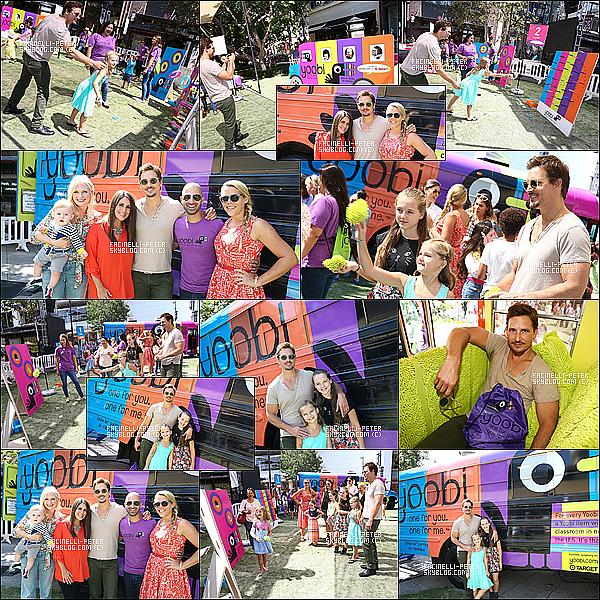 31/07/2014 : Pet Facinelli e etait vue en famille sans J' Alexander  à la Yoobi Fun Day At The Grove à Los Angeles ! .... !