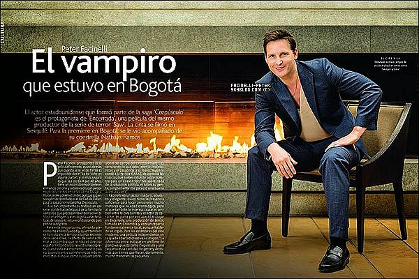 """▲▼ Scan du magasine """"Caras"""" ou Peter Facnelli fait la couverture (Colombie) !  (+) Nouvelle façon de faire les titres !"""