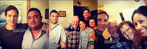 """20/09/2014 : PetF etait en """"repos"""" avec ses parents et des amis le lendemain de son jour de reunion et tournage  ! Rien de bien special a dire sauf que les photo de Peter Facinelli et ses parent son rare donc on profite on profite les amis ! •♥•"""