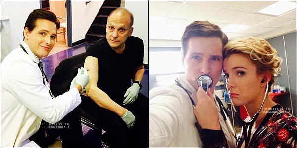 Instagram (03/10/2014) : ●●● Deux photos de Pet Facinelli sur le set de Nurse Jackie poster sur  instagram  !   Comme nous le savons maintenant Pet Facinelli quitte la série, le cast de la série lui a donc organiser une petite fête pour la fin !