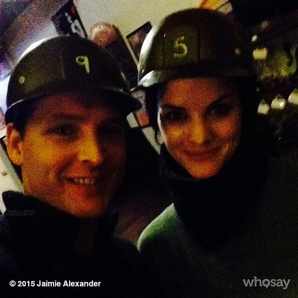 Photos de Peter Facinelli et Jaimie Alexander sur le compte Instagram de Jaimie Alexander  !