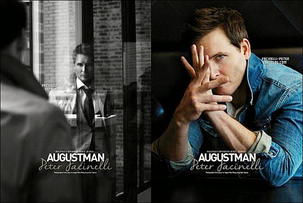 """Découvre 3 nouvelles photos du shoot de Peter Facinelli pour """" AugustMan """"  !"""