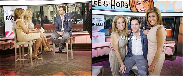 """01/04/2015 : Peter Facinelli au """" Kathie Lee and Hoda show pour la promo de la série """" American Odyssey """" à NY !   .... !"""
