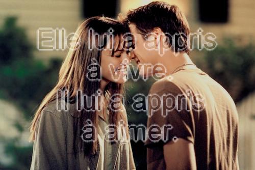Elle lui a appris à vivre.Il lui a appris à aimer (Landon et Jamie)