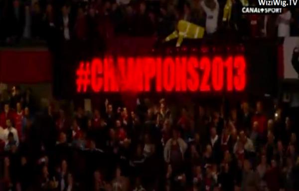 Et le champion d'Angleterre 2012-2013 est : MANCHESTER UNITED !