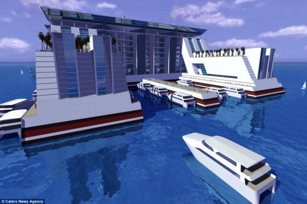 Une ville flottant
