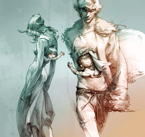 """""""Deux coeurs"""" par Zhang Weber, (Chine)."""