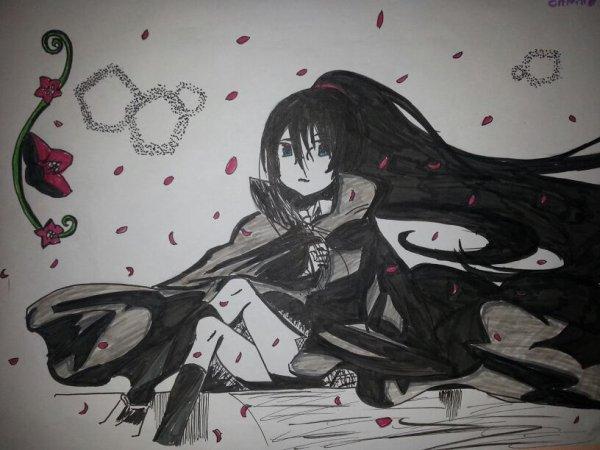 Dessin du jour 1 yukina en mode seigneur des vampires