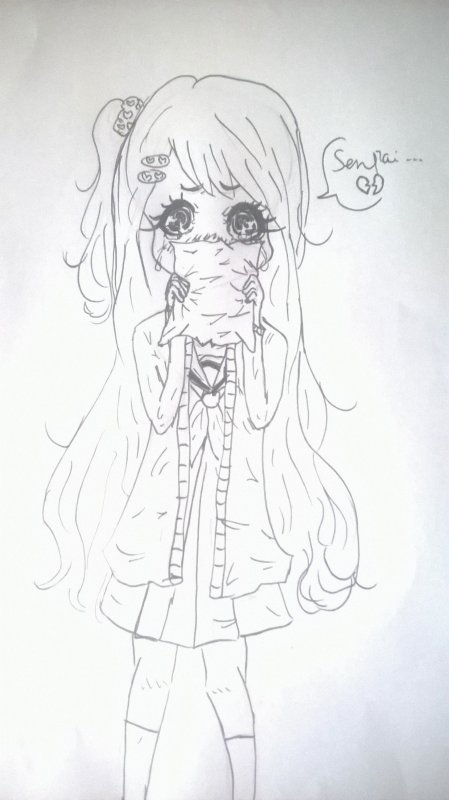 Une loli qui pleure :3