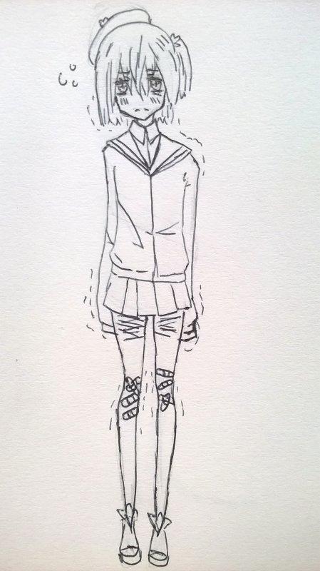 Je dessine que des gens dépressifs en fait
