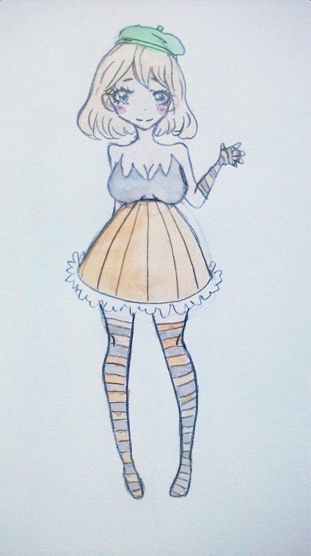 Une fille citrouille 8D(spécial Halloween)