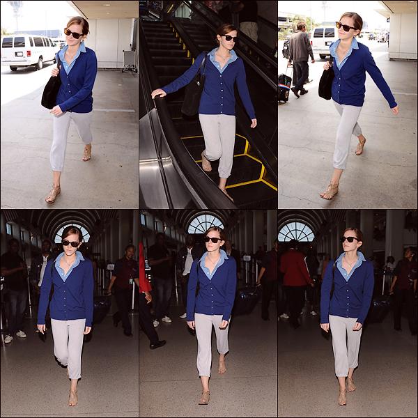 Le 02/06 : Emma a été aperçue arrivant à l'aéroport de Los Angeles