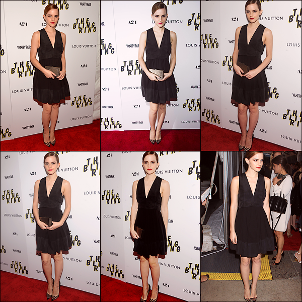 "Le 11/06 : Emma était présente à une projection spéciale de ""The Bling Ring"" au The Paris Theatre à New York"