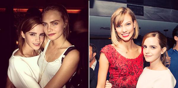 Le 01/08 : Emma était présente à l'anniversaire de Karlie Kloss organisé par son ami Derek Blasberg au Paramount Hotel Times Square à New York