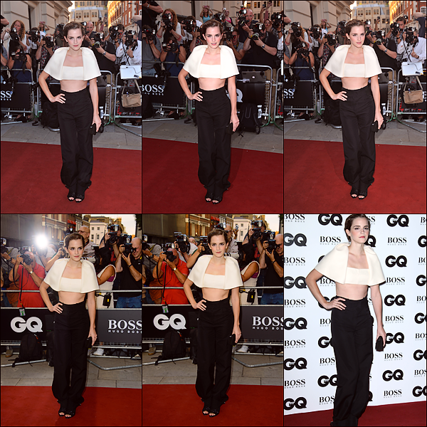 Le 03/09 : Emma était présente aux GQ Men of the Year awards se déroulant au The Royal Opera House à Londres